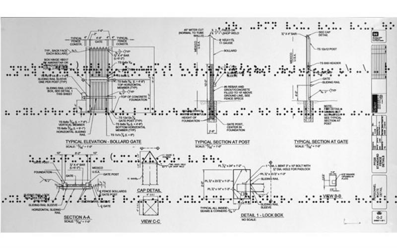 Guillermo Galindo / Typical Secret Document, 2015 / Mixed Media on double-sided cut paper / 24 x 49.5 inches