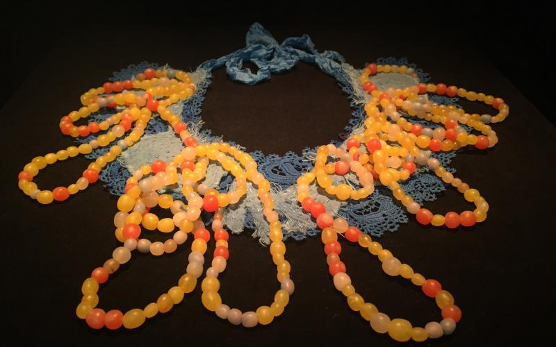 "Artist Anna Dumitrieu's ""Necklace"" made from Amino Acids"