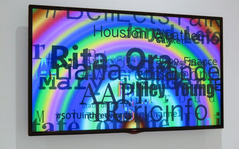 Jason Salavon / Rainbow Aggregator, 2013 / real-time software, internet connection, computer, large display / Ed. 3 + 2 AP / dimensions variable