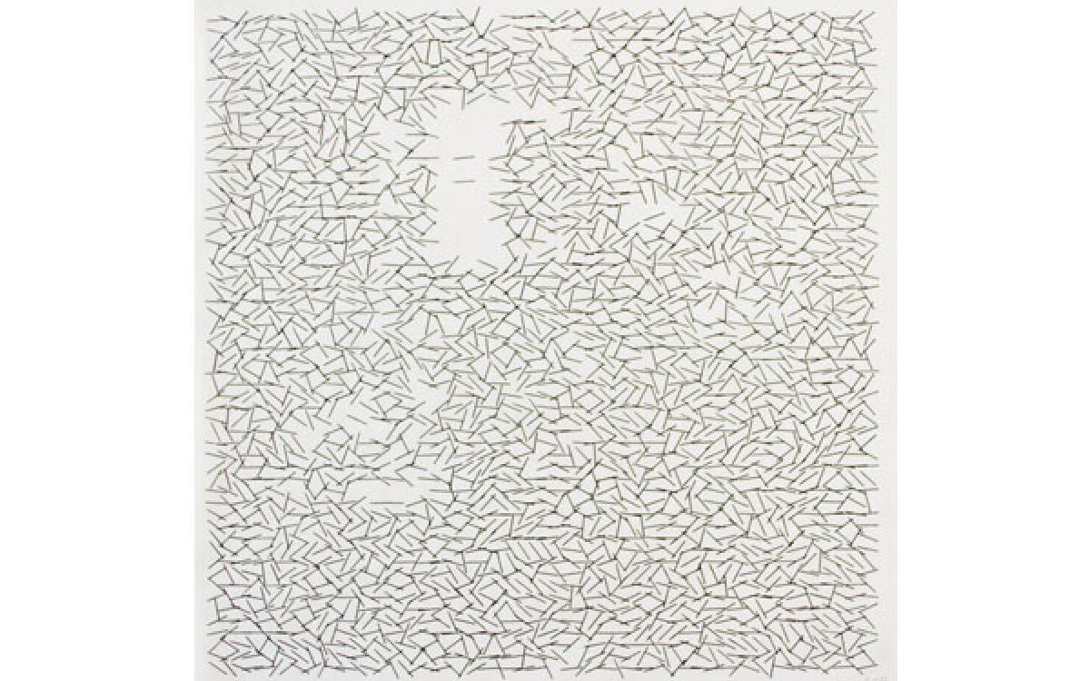 Vera Molnar / Interruptions, 1968 / computer graphic on paper / 13 5/8 x 12 3/4 inches / Courtesy of Senior & Shopmaker Gallery (NY)