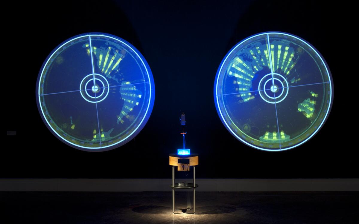 Ocular Revision. Installation at Albright Knox Art Gallery. Buffalo. 2011.